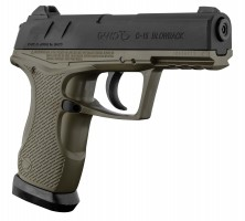 Pistolet CO2 C-15 Green Blowback - Calibre 4,5