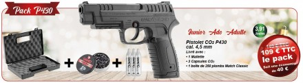 GAMO 2020 Christmas Pack - 3.91 J. Pistol Pack - P430 CO2 Pistol & accessories
