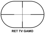 Photo G4010-R-GAMO Lunette 4 X 28 TV
