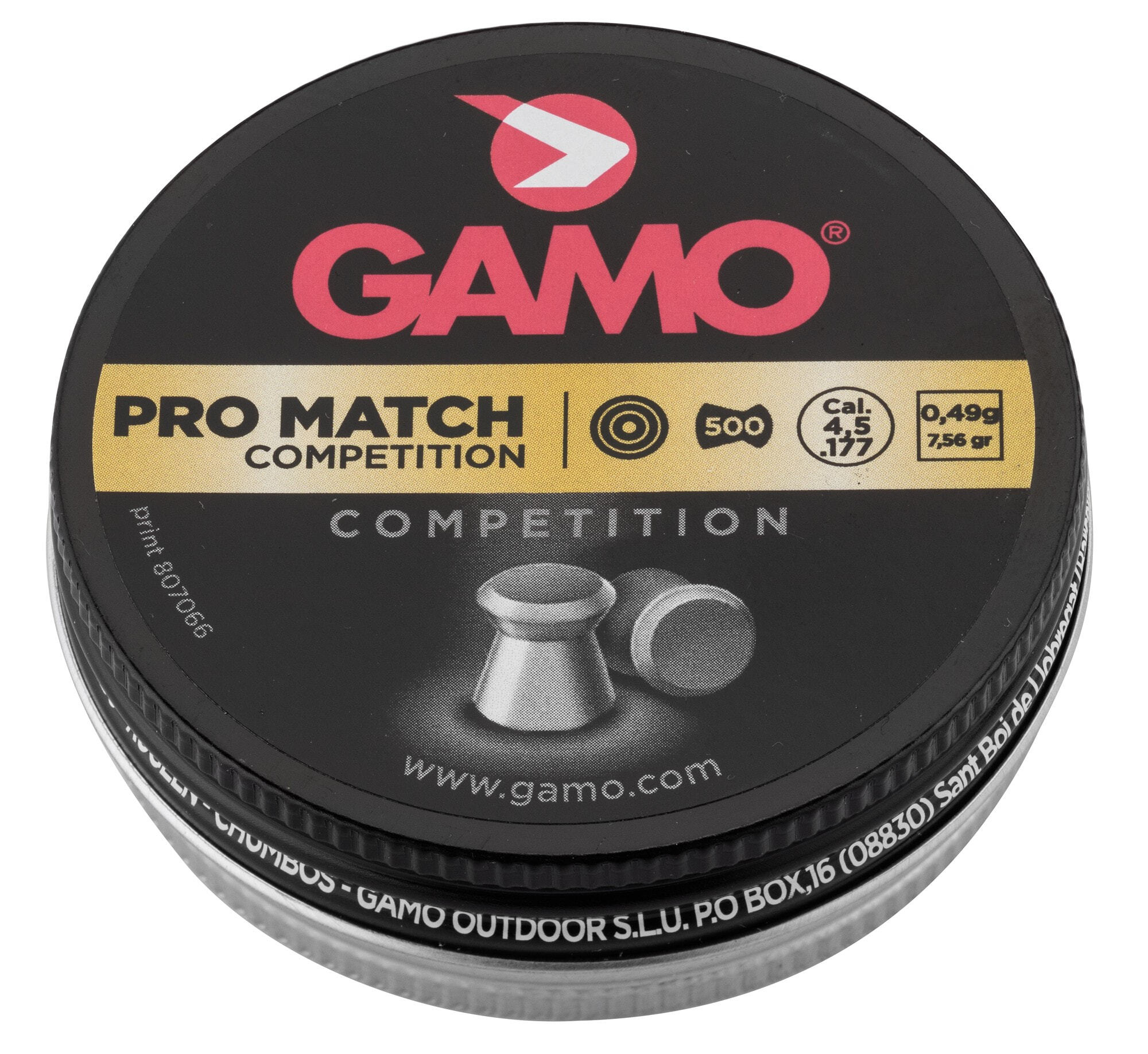 G3150 Plombs PRO MATCH COMPETITION 4,5 mm - GAMO - G3150