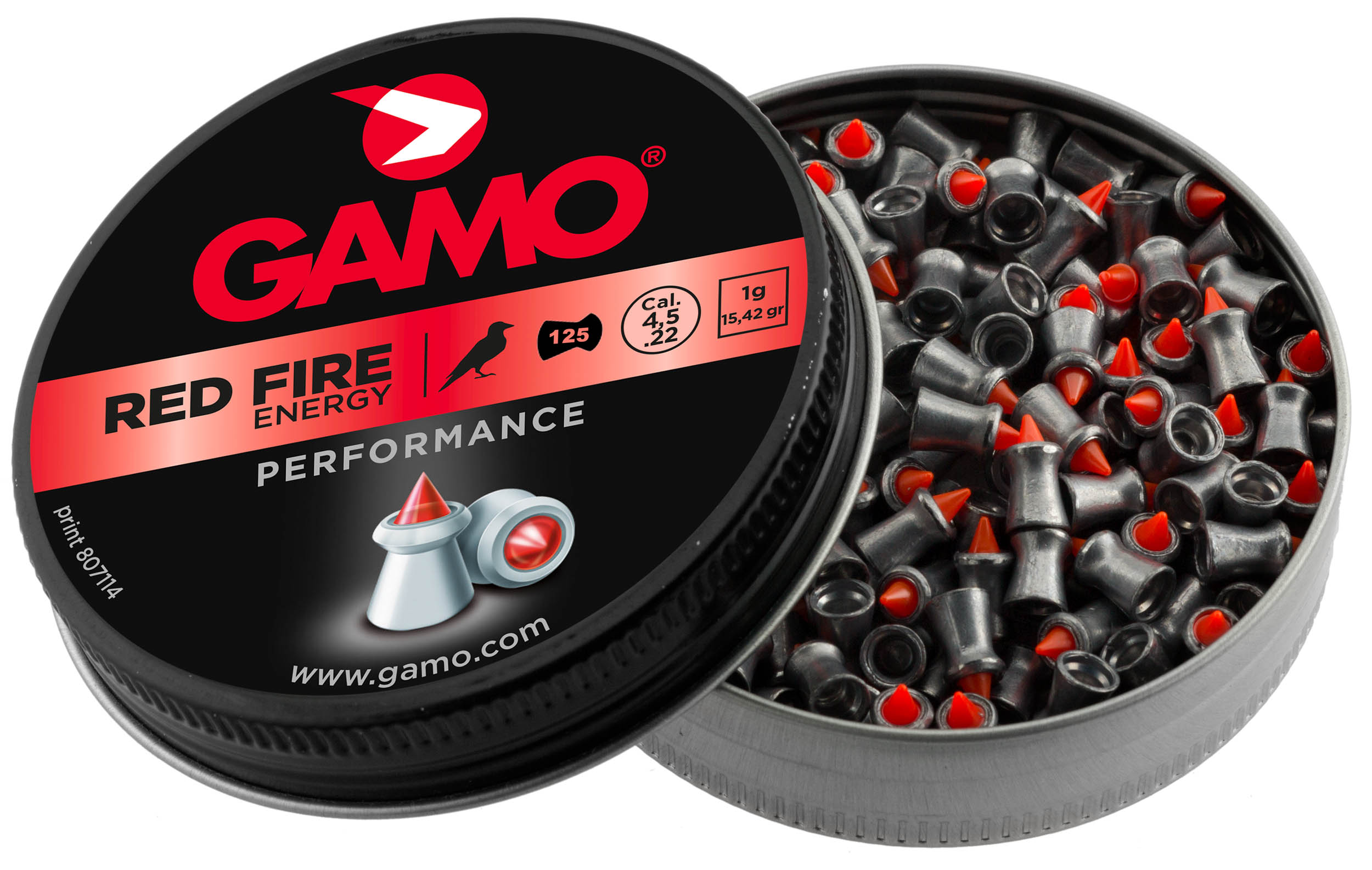 G3370-3-GAMO Plombs RED FIRE - ENERGY - (125p. - cal.4.5) - G3370