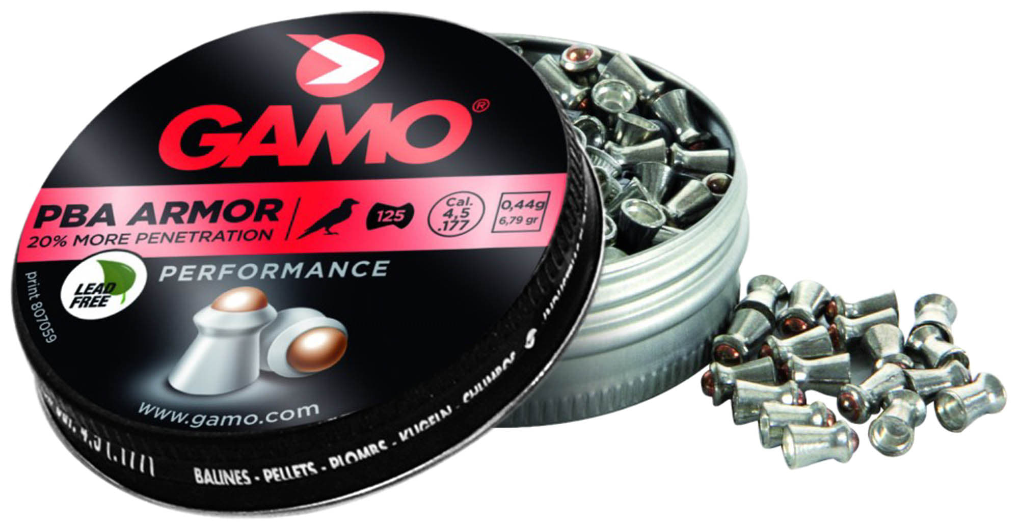 G3381-Plombs ARMOR - MORE PENETRATION 4,5 mm - GAMO - G3381