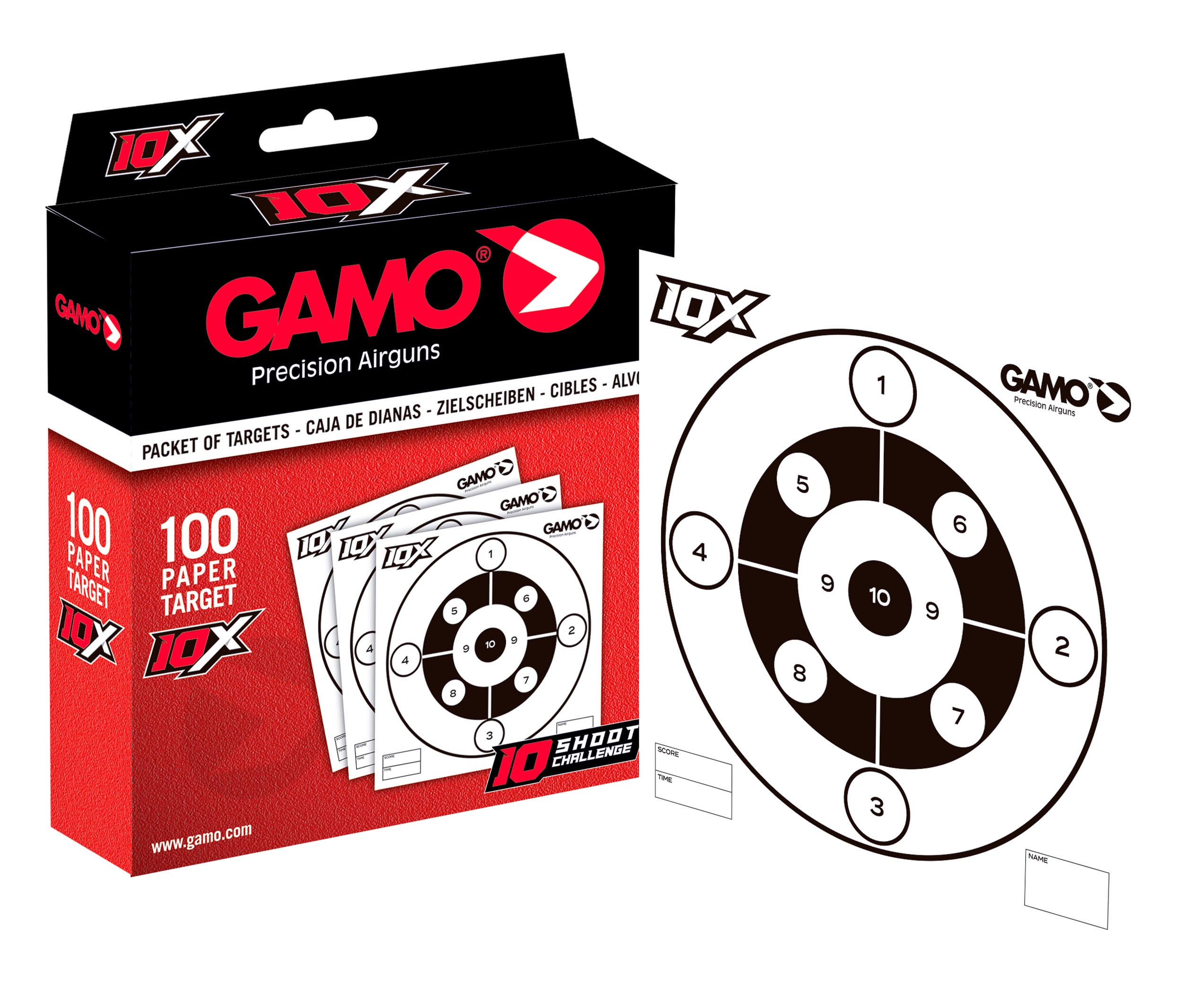 G5105 Pack Cherry GAMO 2020 - Pack Swarm Fox 10X 4,5mm synthetic. - GAMO Swarm rifle - PACKSWARM