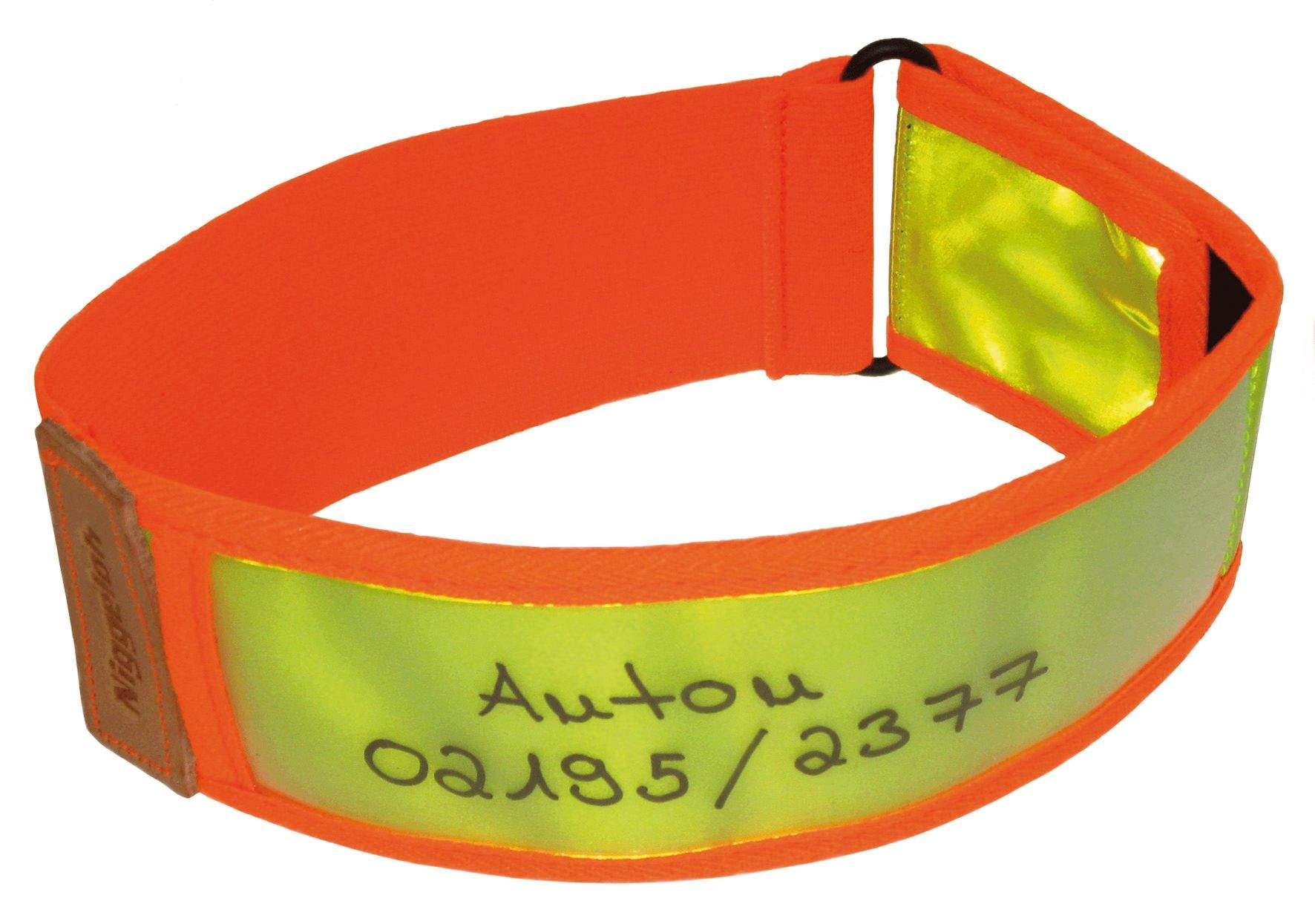 101100027 NIG Collier Réflective Jaune / Orange XS 30-40 cm - N2151