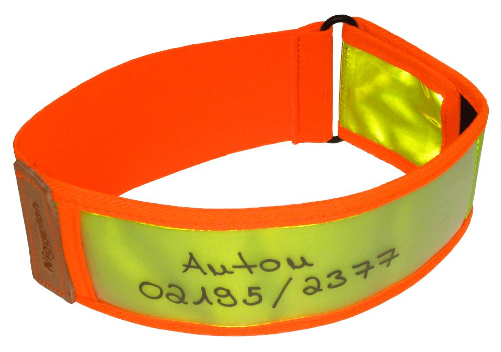 101100028 NIG Collier Réflective Jaune / Orange S/M 40-60 cm - N2151