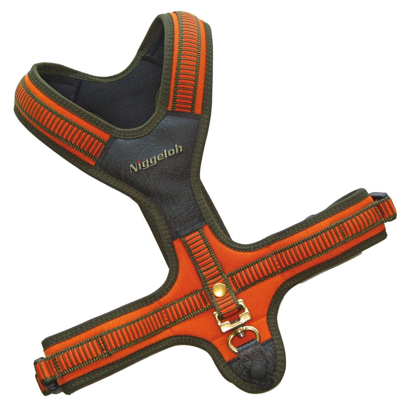041100013 NIG Harnais Orange M cou 49 cm ventre 54-91 cm - N2204