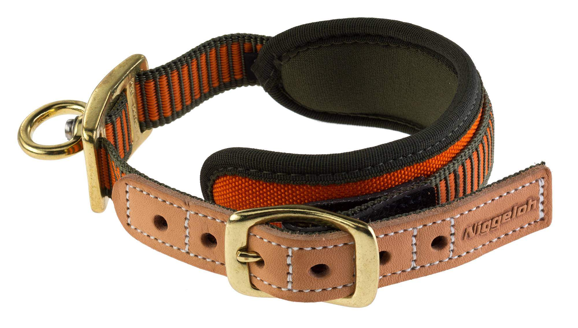 Niggeloh Collier Chien de Sang Orange Fluo - N2406
